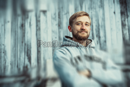 portrait, of, a, young, bearded, man - 23439743