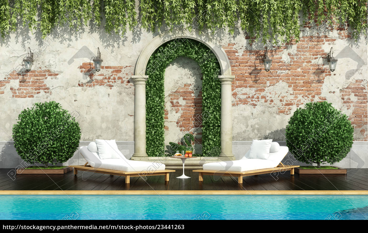 classic, garden, with, pool - 23441263
