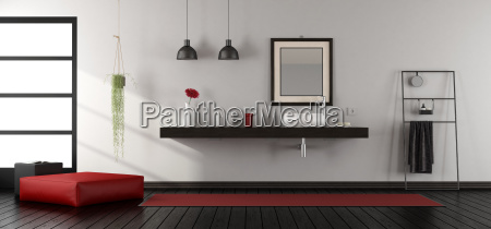 mininalist, bathroom, wit, washbasin - 23441249