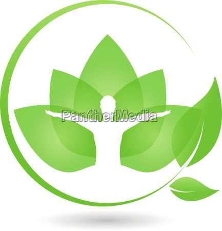 man and leaves chiropractors naturopaths logo