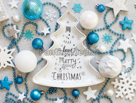 turquoise, blue, and, silver, festive, christmas - 23445339