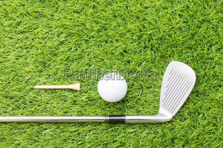 sportobjekt im zusammenhang mit golfausruestung