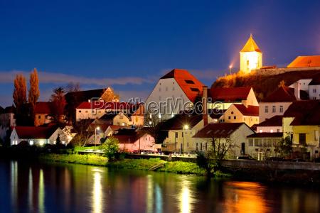 town of ptuj and drava river