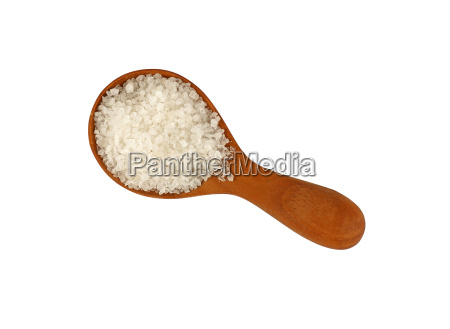 close up wooden scoop spoon of
