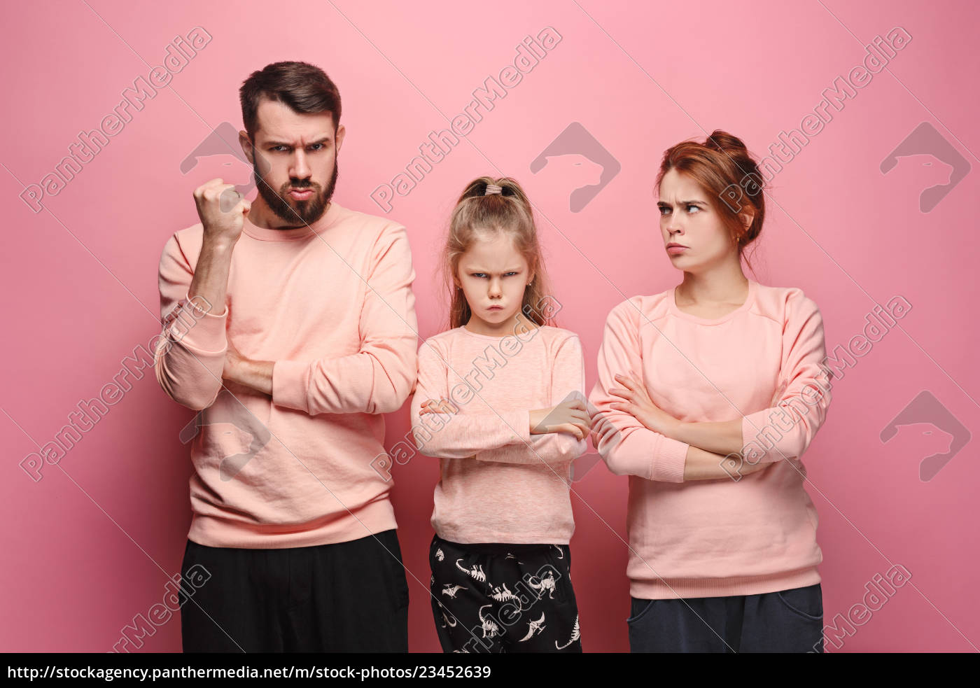 the, sad, family, on, pink - 23452639