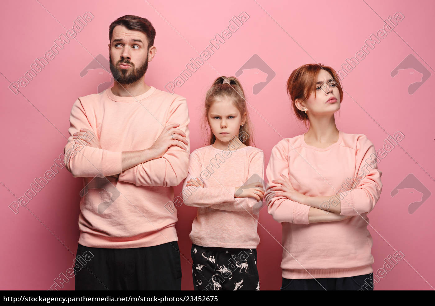 the, sad, family, on, pink - 23452675