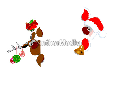 santa claus and reindeer 1