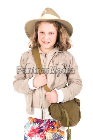 girl, in, safari, clothes - 23453425