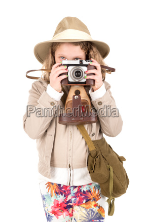 girl, in, safari, costume - 23453427