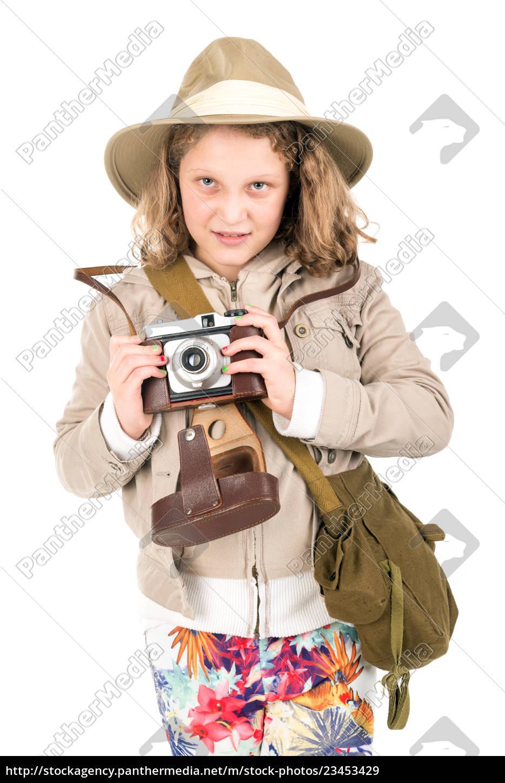 girl, in, safari, costume - 23453429