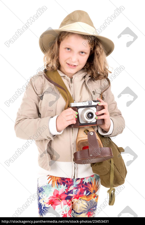 girl, in, safari, costume - 23453431