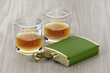 green, hip, flask, and, glasses, of - 23453455