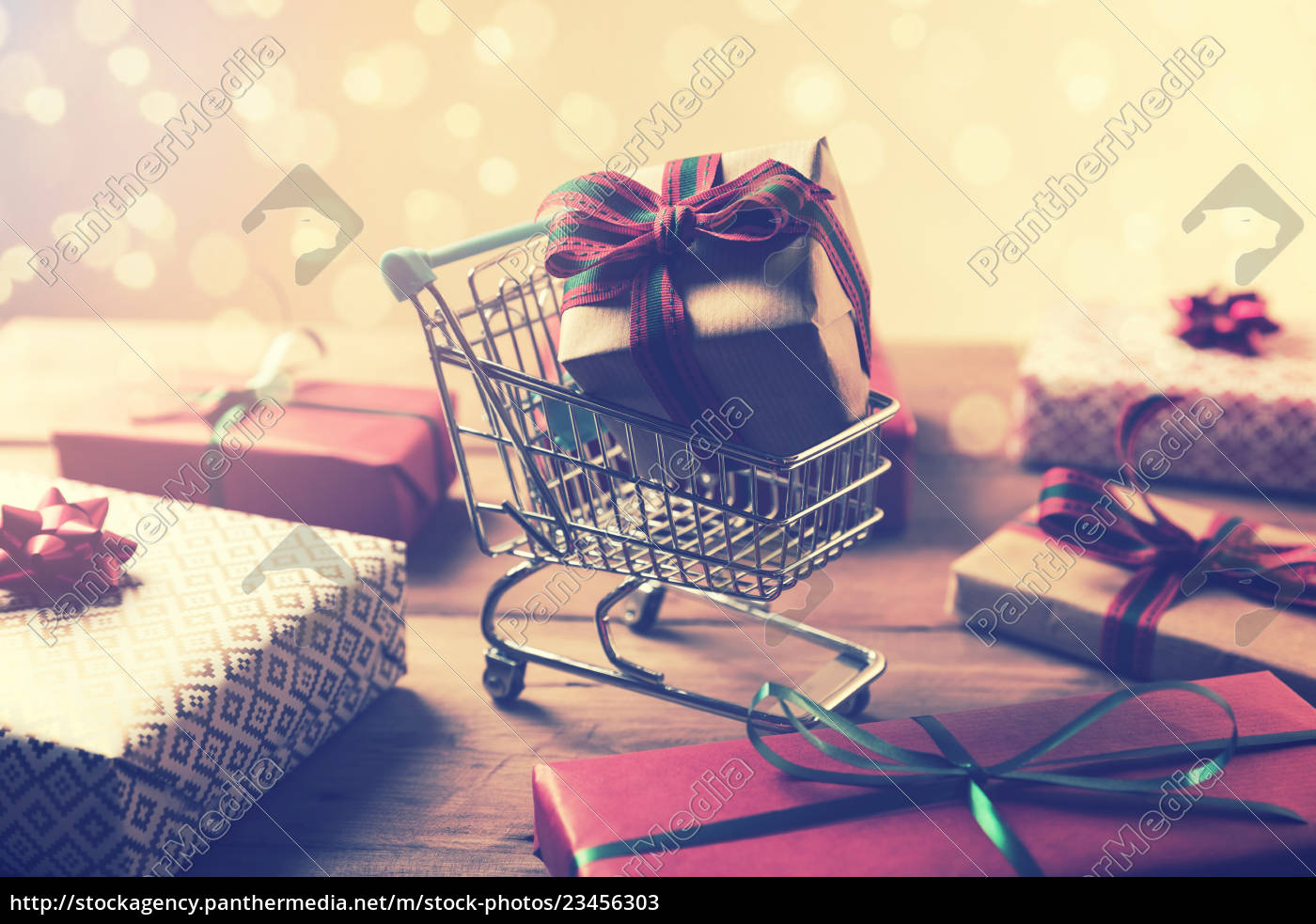 buying, gifts, -, wrapped, present, in - 23456303