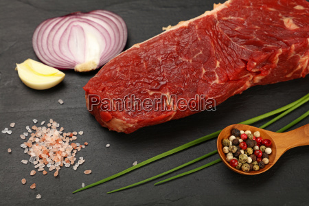 raw beef steak meat cut and