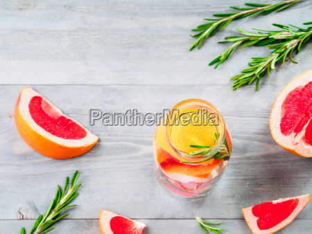 infused, detox, water, with, grapefruit, and - 23458351