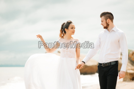 young, couple, groom, with, the, bride - 23459817