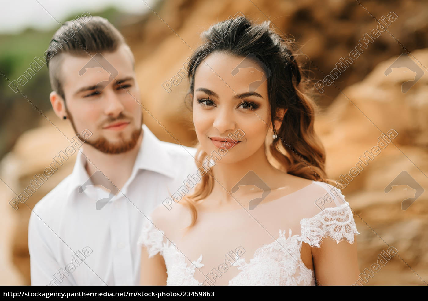 young, couple, groom, with, the, bride - 23459863