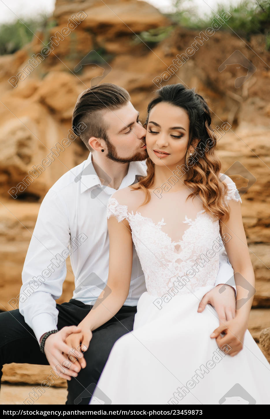 young, couple, groom, with, the, bride - 23459873