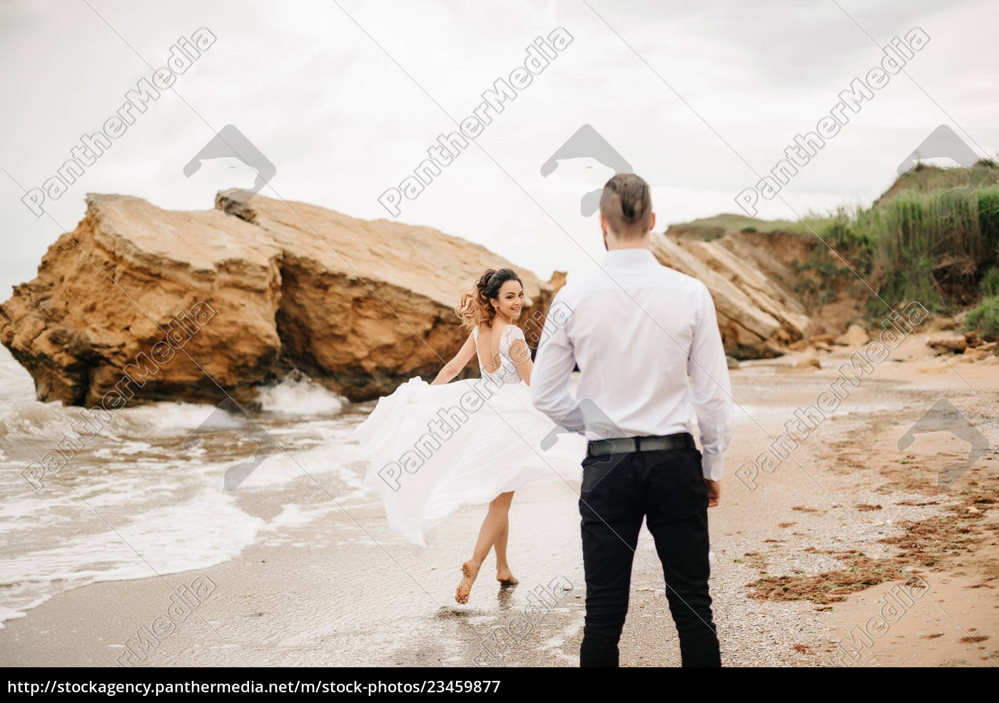 young, couple, groom, with, the, bride - 23459877