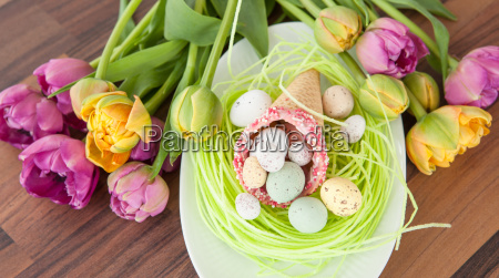 easter eggs in waffle seam