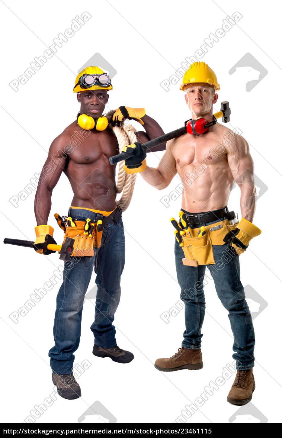 strong, construction, workers - 23461115