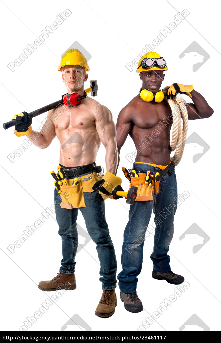 strong, construction, workers - 23461117