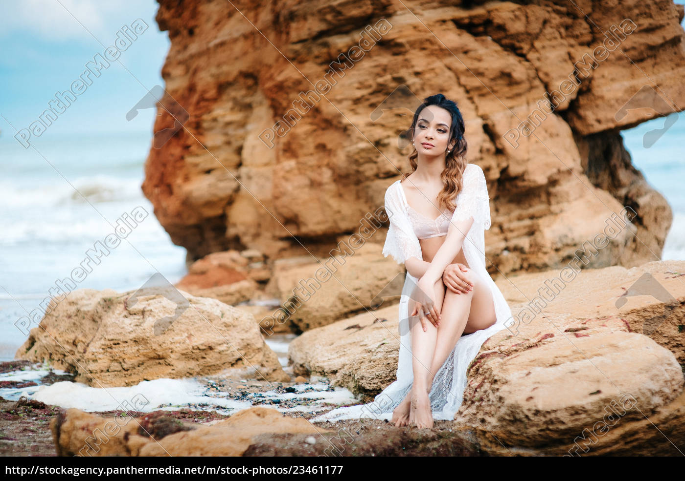 young, girl, bride, in, her, underwear - 23461177