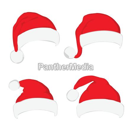 santa claus red hat set