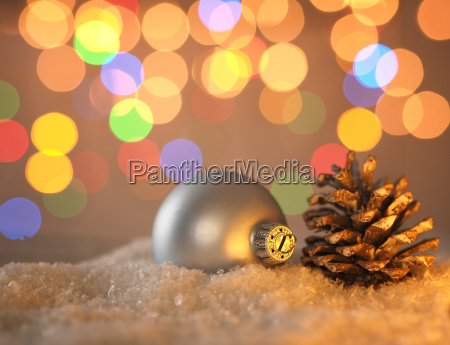 pine conce and christmas bauble