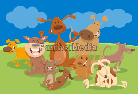 dogs and puppies cartoon characters
