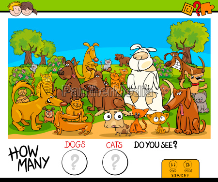 counting cats and dogs educational game