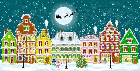 city on christmas eve