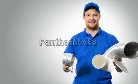 hvac, worker, with, ventilation, system, equipment - 23465406