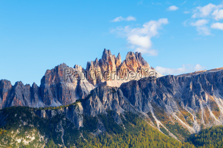 beautiful autumn colors in dolomites mountain