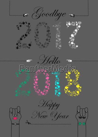 goodbye 2017 hello 2018 happy new