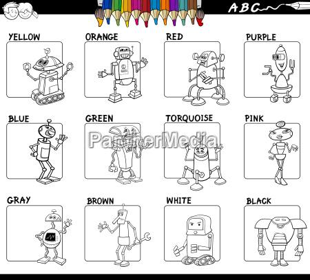 basic colors set worksheet for coloring