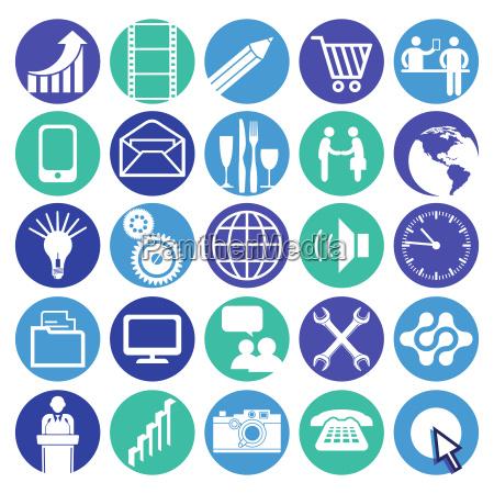 business icon button vector
