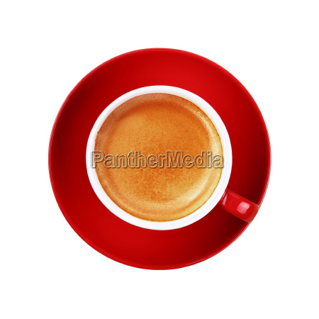 full cup of espresso coffee in