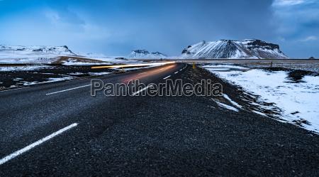road landscape in iceland