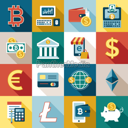digital vector bitcoin cryptocurrency and electronic