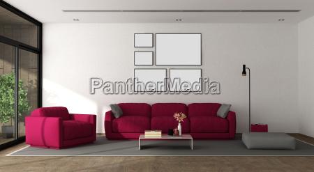 modern lounge with furniture