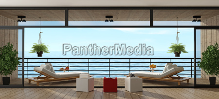 holiday, villa, with, wooden, veranda - 23473834