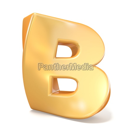 orange twisted font uppercase letter b