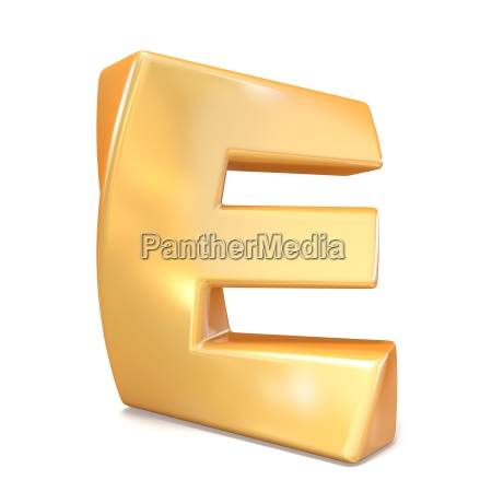 orange twisted font uppercase letter e