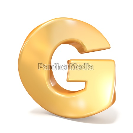 orange twisted font uppercase letter g
