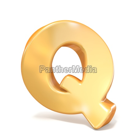 orange twisted font uppercase letter q