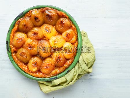 rustic golden french apple tarte tatin