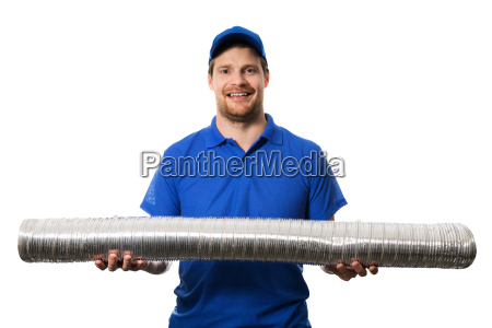 hvac, worker, with, flexible, ventilation, system - 23474419