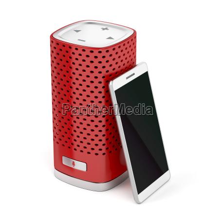 smart, speaker, and, smartphone - 23474579