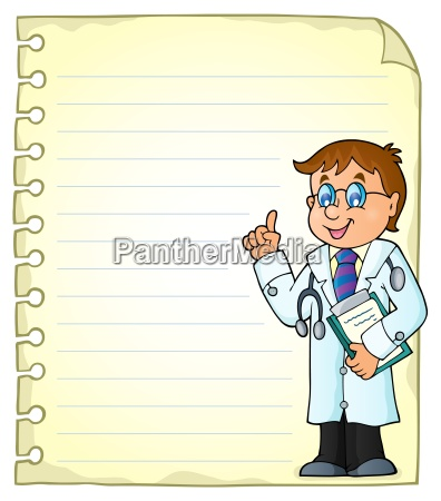 notepad page with doctor theme 2